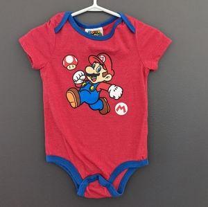 Super Mario red onesie/bodysuit